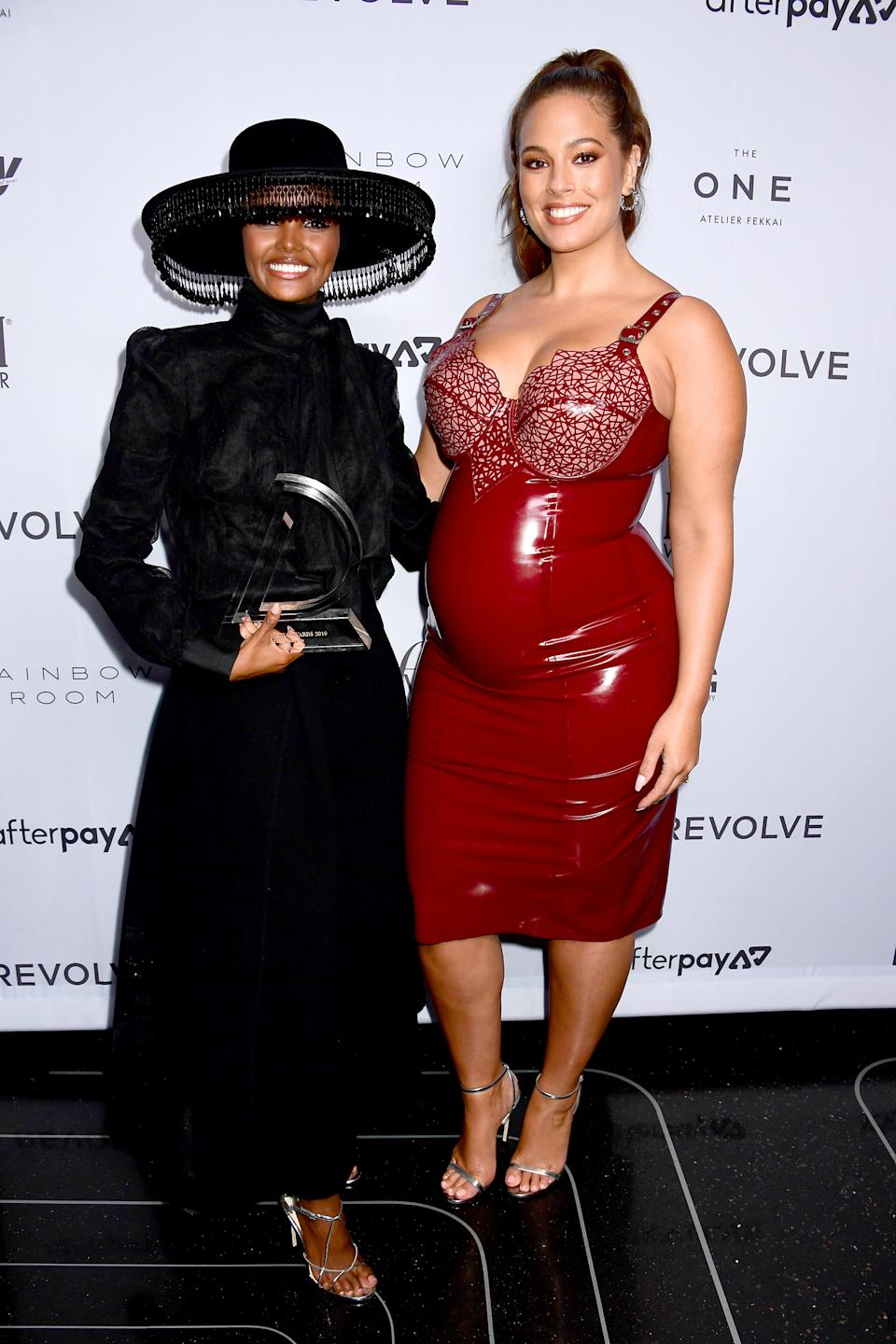 NEW YORK, NEW YORK - SEPTEMBER 05: Halina Aden and Ashley Graham attend The Daily Front Row's 7th annual Fashion Media Awards on September 05, 2019 in New York City. (Photo by Jennifer Graylock/Getty Images  for Daily Front Row, Inc.)
