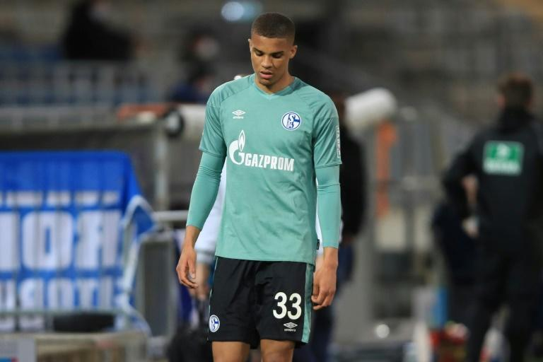 Schalke defender Malick Thiaw is sent off as defeat at Arminia Bielefeld confirmed his club's relegation