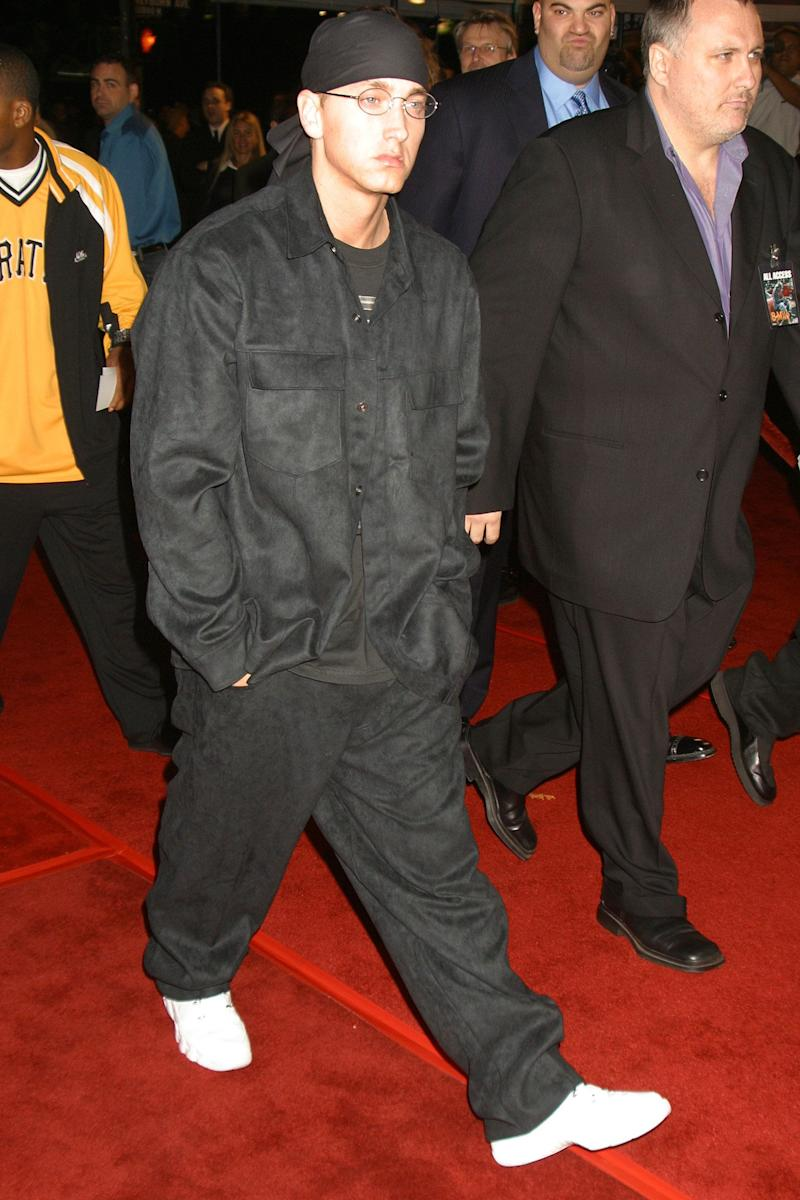 "At the premiere of ""8 Mile"" in Los Angeles, California."
