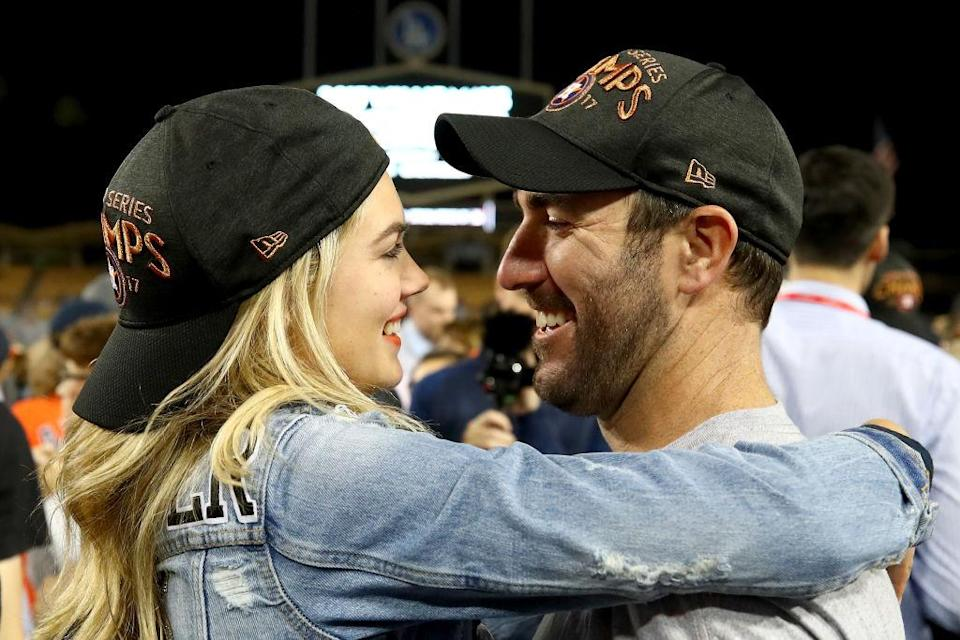 Kate Upton and Justin Verlander. (Photo: Getty Images)