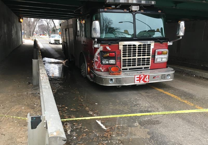 Police say truck driver pulled over to let stolen fire truck pass, but was rear-ended