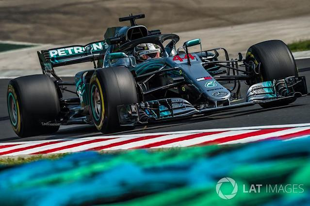 """2018 : Mercedes W09 EQ Power+ <span class=""""copyright"""">Jerry Andre / Motorsport Images</span>"""