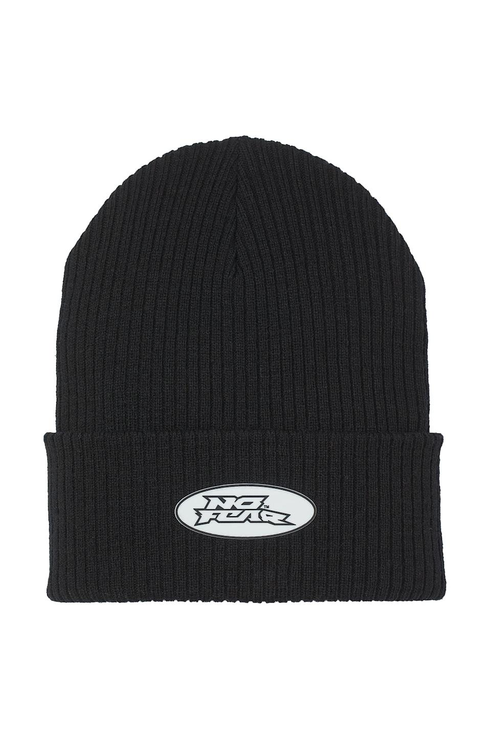 <p>For us, a black beanie is practically a fall necessity. We're scooping up this <span>No Fear x H&amp;M Knit Hat</span> ($10).</p>