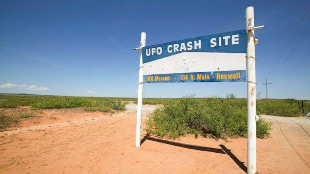 PHOTO: Roswell UFO Museum Sign. (David Zaitz/Getty Images)