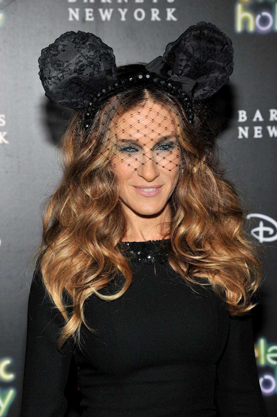 <p>She unveiled Barneys New York's Disney-themed holiday windows in 2012 wearing Minnie Mouse's ears. All the better to hear you with, my dear… </p>
