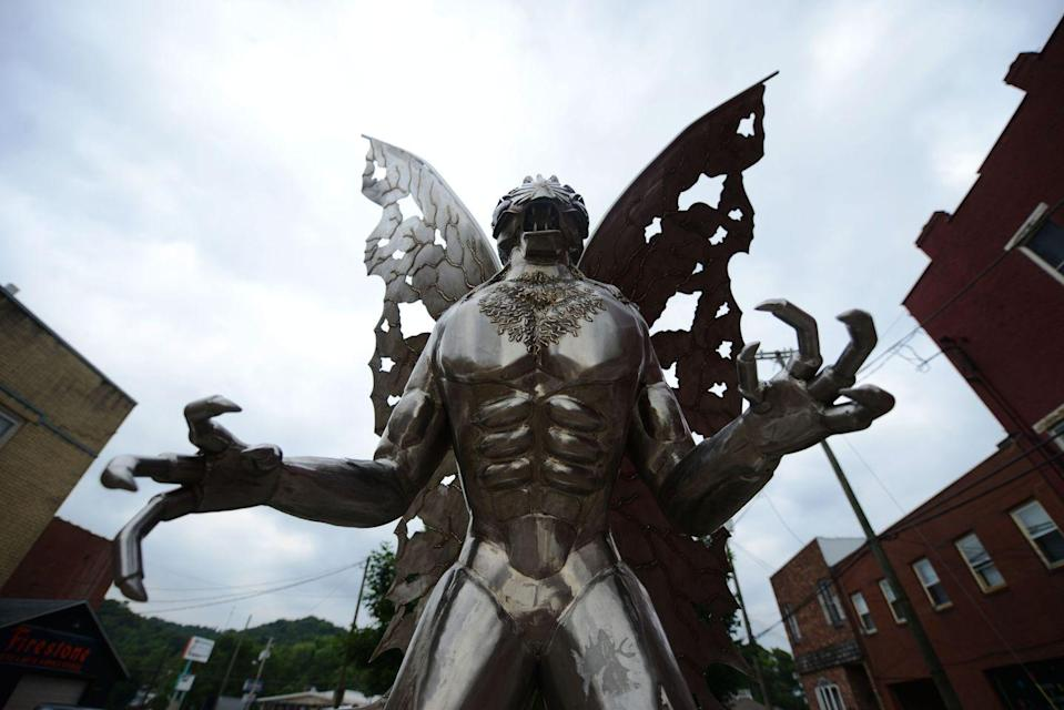 """<p>The enduring story of Mothman is the stuff of West Virginian legend. The red-eyed creature was reportedly first spotted in the winter of 1966, and the folklore has lived on thanks to books and movies based on the infamous creature. <a href=""""https://wchstv.com/news/local/man-photographs-creature-that-resembles-legendary-mothman-of-point-pleasant"""" rel=""""nofollow noopener"""" target=""""_blank"""" data-ylk=""""slk:Continued sightings"""" class=""""link rapid-noclick-resp"""">Continued sightings</a> of the winged beast, which is said to be a bad omen, keep the legend alive and well.</p>"""