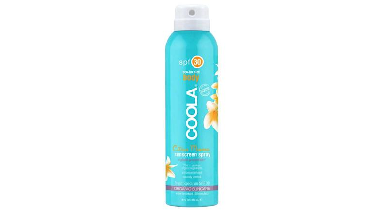"<div>Wear perfume in the hot sun and you're heading for a heatrash. Protect your skin and smell delectable in one spritz with Coola Eco-Lux SPF 30 Citrus Mimosa Sunscreen Spray, £32 from <a rel=""nofollow"" href=""https://www.cultbeauty.co.uk/coola-eco-lux-spf-30-citrus-mimosa-sunscreen-spray.html"">cultbeauty.co.uk</a> </div>"
