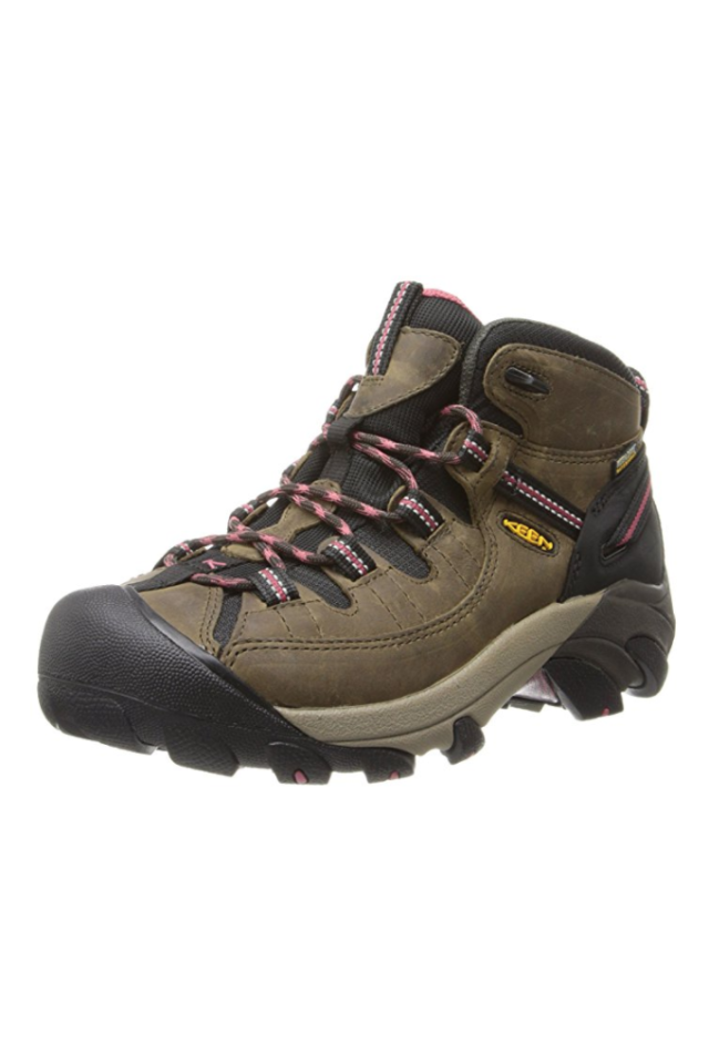 """<p>Starting at $107</p><p><a rel=""""nofollow"""" href=""""https://www.amazon.com/KEEN-Womens-Targhee-II-Waterproof/dp/B00HGAFZ0M/"""">SHOP NOW</a></p><p>These waterproof boots are a must for long, arduous hikes: They're supportive and provide great traction on rough terrain.  And they're also affordable. """"I'm convinced that these boots are the most comfortable shoes in my closet,"""" one reviewer wrote on Amazon. </p>"""