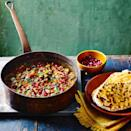 """<p>If you like things a little more fiery, add a finely chopped red chilli to your stew along with the garlic and spices.</p><p><strong>Recipe: <a href=""""https://www.goodhousekeeping.com/uk/food/recipes/a35415429/fragrant-lamb-chickpea-stew-spiced-flatbreads/"""" rel=""""nofollow noopener"""" target=""""_blank"""" data-ylk=""""slk:Fragrant Lamb and Chickpea Stew with Spiced Flatbreads"""" class=""""link rapid-noclick-resp"""">Fragrant Lamb and Chickpea Stew with Spiced Flatbreads</a></strong></p>"""