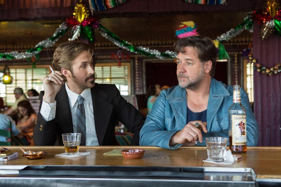 <p>A new Shane Black movie is always cause for celebration, and this one features our new favourite double act of Baby Goose and Rusty Crowe. The tunes, the collars, the one-liners: it's the only movie of 2016 that feels like it was made for adults. </p>
