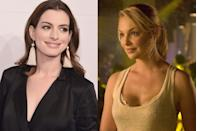 "<p>Hathaway turned down Katherine Heigl's part of Alison Scott in <em>Knocked Up</em>, <a href=""https://www.allure.com/gallery/anne-hathaway#slide=6"" rel=""nofollow noopener"" target=""_blank"" data-ylk=""slk:telling Allure"" class=""link rapid-noclick-resp"">telling <em>Allure</em></a> it was because of the movie's explicit birth scene. ""My issue with it was that having not experienced motherhood myself, I didn't know how I was gonna feel on the other side about giving birth,"" she said.</p>"