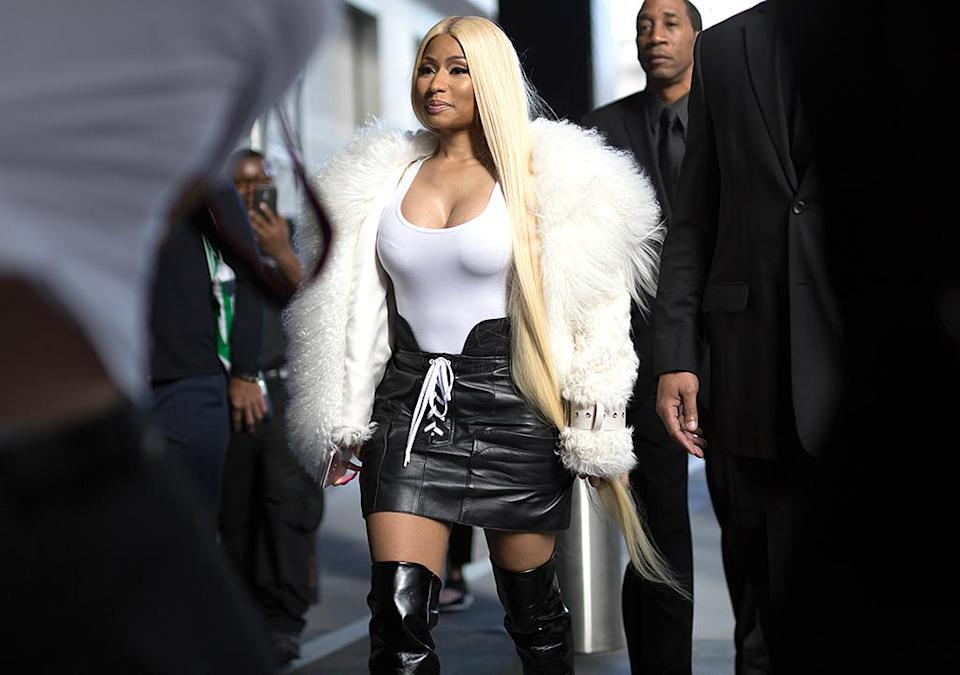 Nicki Minaj loves her fur coats. (Photo: Matthew Sperzel/Getty Images)