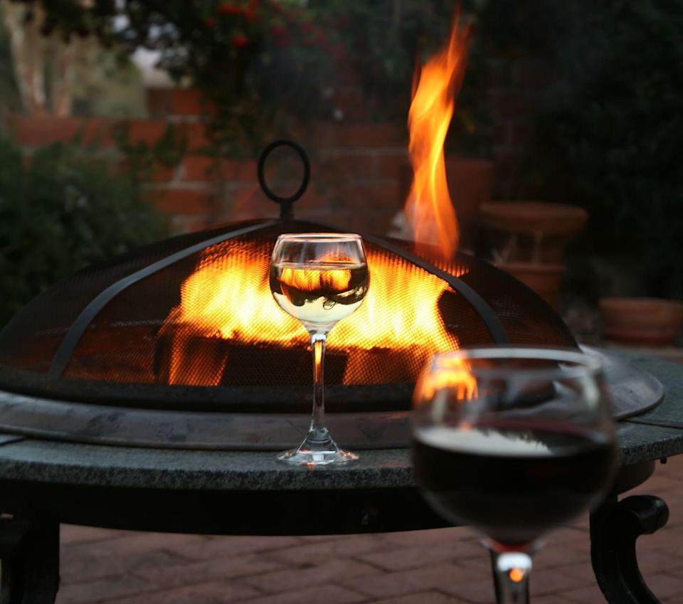 """<p>February might still be chilly, but make the most of it by dressing up in your warmest coats and <a href=""""https://www.dwr.com/accessories-fireplace/plodes-petal-fire-pit/2520258.html?lang=en_US"""" rel=""""nofollow noopener"""" target=""""_blank"""" data-ylk=""""slk:building a fire"""" class=""""link rapid-noclick-resp"""">building a fire</a>. Bring out a <a href=""""https://www.townandcountrymag.com/leisure/drinks/g32392235/best-red-wine/"""" rel=""""nofollow noopener"""" target=""""_blank"""" data-ylk=""""slk:bottle of good wine"""" class=""""link rapid-noclick-resp"""">bottle of good wine</a>, toast some <a href=""""https://www.amazon.com/Campfire-Roasters-Premium-Quality-Marshmallows/dp/B01IWBZA8U/ref=pd_lpo_325_t_0/142-4648700-9646958"""" rel=""""nofollow noopener"""" target=""""_blank"""" data-ylk=""""slk:oversize marshmallows"""" class=""""link rapid-noclick-resp"""">oversize marshmallows</a>, play an <a href=""""https://www.amazon.com/Jenga-Giant-Hardwood-Stacks-feet/dp/B01LZGUAAU/ref=sr_1_1_sspa"""" rel=""""nofollow noopener"""" target=""""_blank"""" data-ylk=""""slk:outdoor game"""" class=""""link rapid-noclick-resp"""">outdoor game</a>, and enjoy the outdoors during the time of year we are usually inside.</p>"""