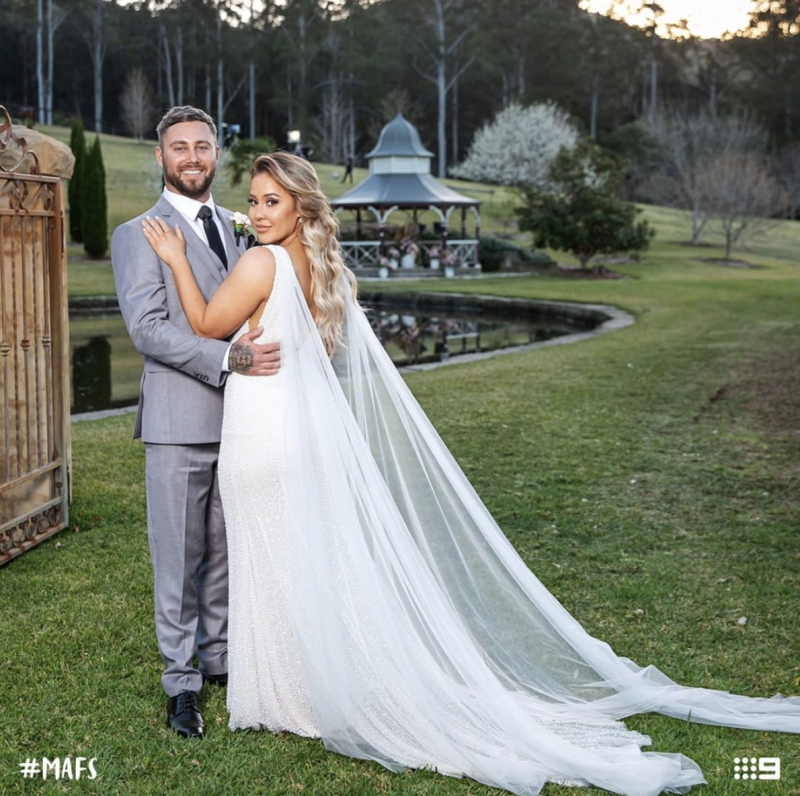 Cathy and Josh tied the knot in episode one. Photo: Channel Nine.