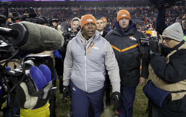 Denver Broncos coach Vance Joseph will return for the 2018 season. (AP)