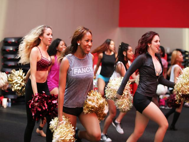 "Pro cheer hopefuls train at Sideline Prep, a pro cheerleading audition workshop in the D.C. area. <span class=""copyright"">Photographed by Jacki Huntington. </span>"