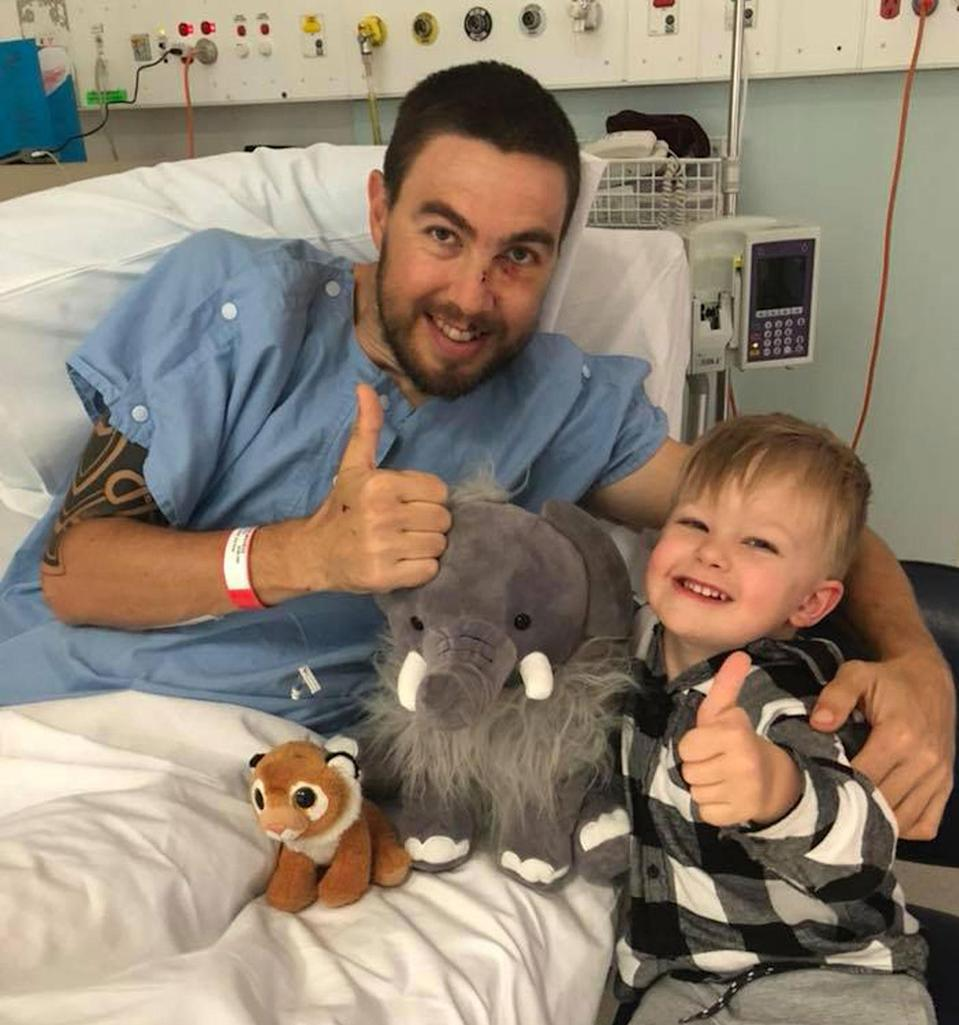 Now on the long road to recovery, Mr McLagan says his ordeal has been life-changing not just physically but also with his outlook. Source: Supplied