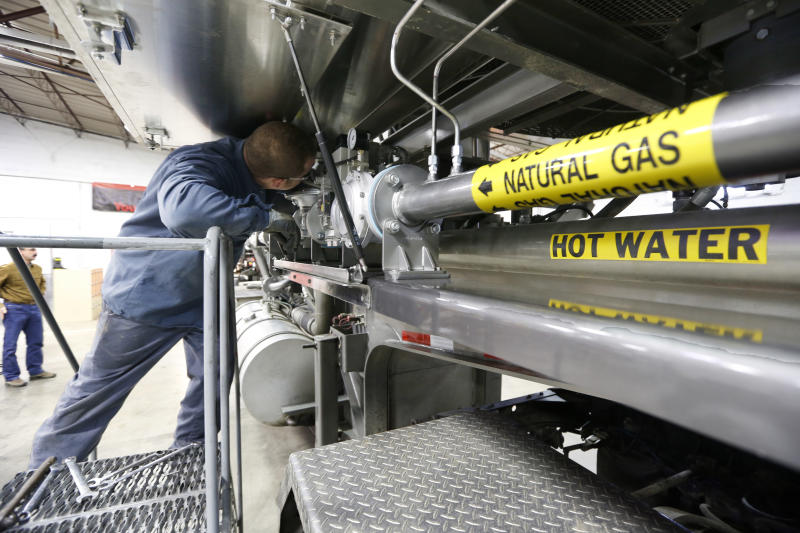 Fracking for natural gas being powered by it, too