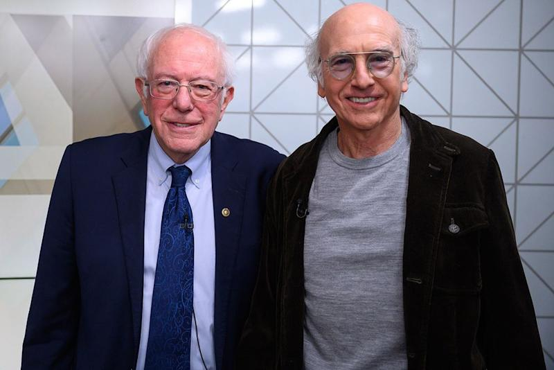 Sen. Bernie Sanders (left) and comedian Larry David on Today on Friday. | TODAY
