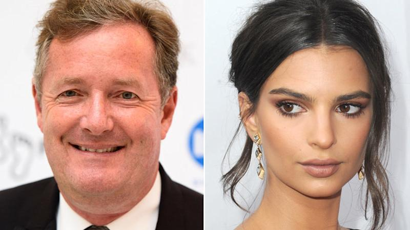 """Emily Ratajkowski has fired back at Piers Morgan, after he branded her a """"global bimbo"""" following her latest photoshoot."""