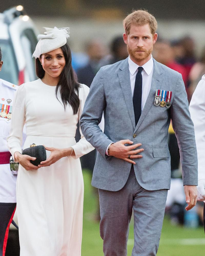 The Duke and Duchess of Sussex have cut ties with four British tabloid news outlets. (Photo by Samir Hussein/Samir Hussein/WireImage)