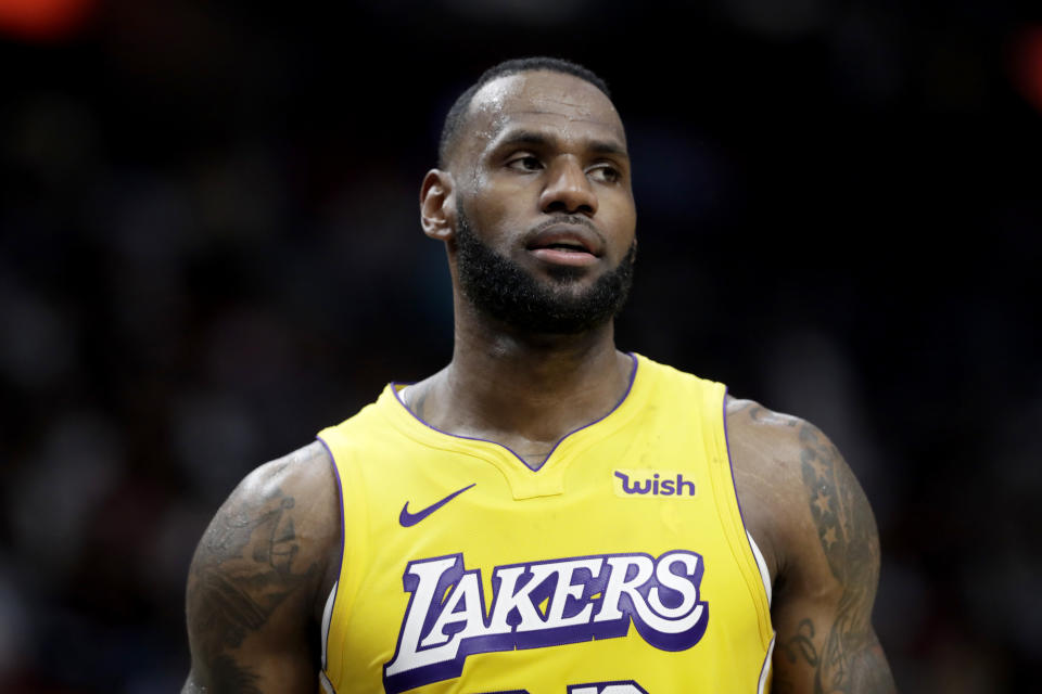 LeBron James is once again finding motivation in slights that don't exist. (AP Photo/Lynne Sladky)