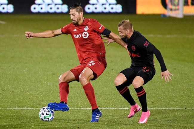 Toronto FC settles for 1-1 tie with Red Bulls, ending five-game win streak