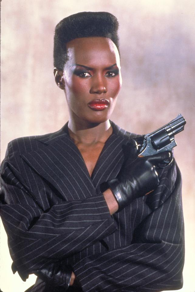 "This undated publicity photo provided by United Artists and Danjaq, LLC shows Grace Jones as May Day from the James Bond 1985 film, ""A View to a Kill."" Modern Bond girls also present a more formidable challenge to the suave secret agent. The film is included in the MGM and 20th Century Fox Home Entertainment Blu-Ray ""Bond 50"" anniversary set. (AP Photo/United Artists and Danjaq, LLC)"