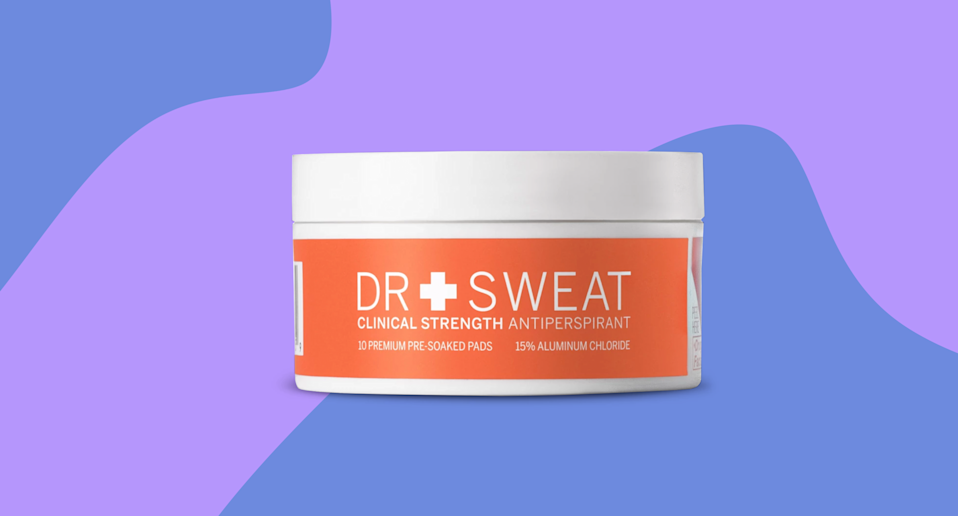 This new antiperspirant offers the highest level of sweat protection available without a prescription — a week! (Photo: Dr. Sweat; Yahoo Lifestyle)