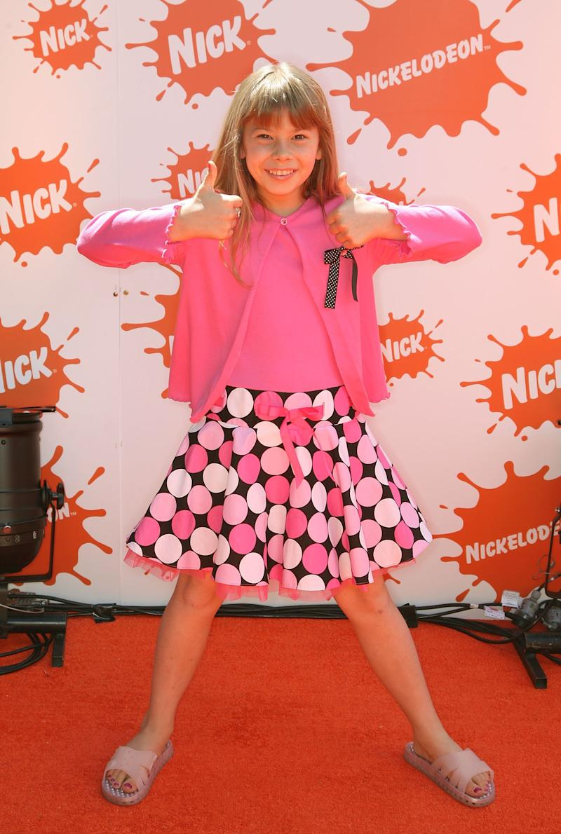 TV personality and conservationists Bindi arrives at the Nickelodeon Australian Kids' Choice Awards 2008 at the Hisense Arena on October 11, 2008 in Melbourne, Australia. This year's event, now in its sixth year, was held in Melbourne for the first time in its history. (Photo by Kristian Dowling/Getty Images)