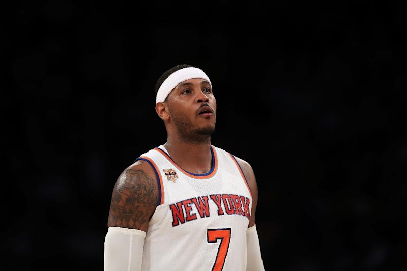 With 2.3 seconds remaining Carmelo Anthony's jump shot lifted the Knicks to victory in Minneapolis