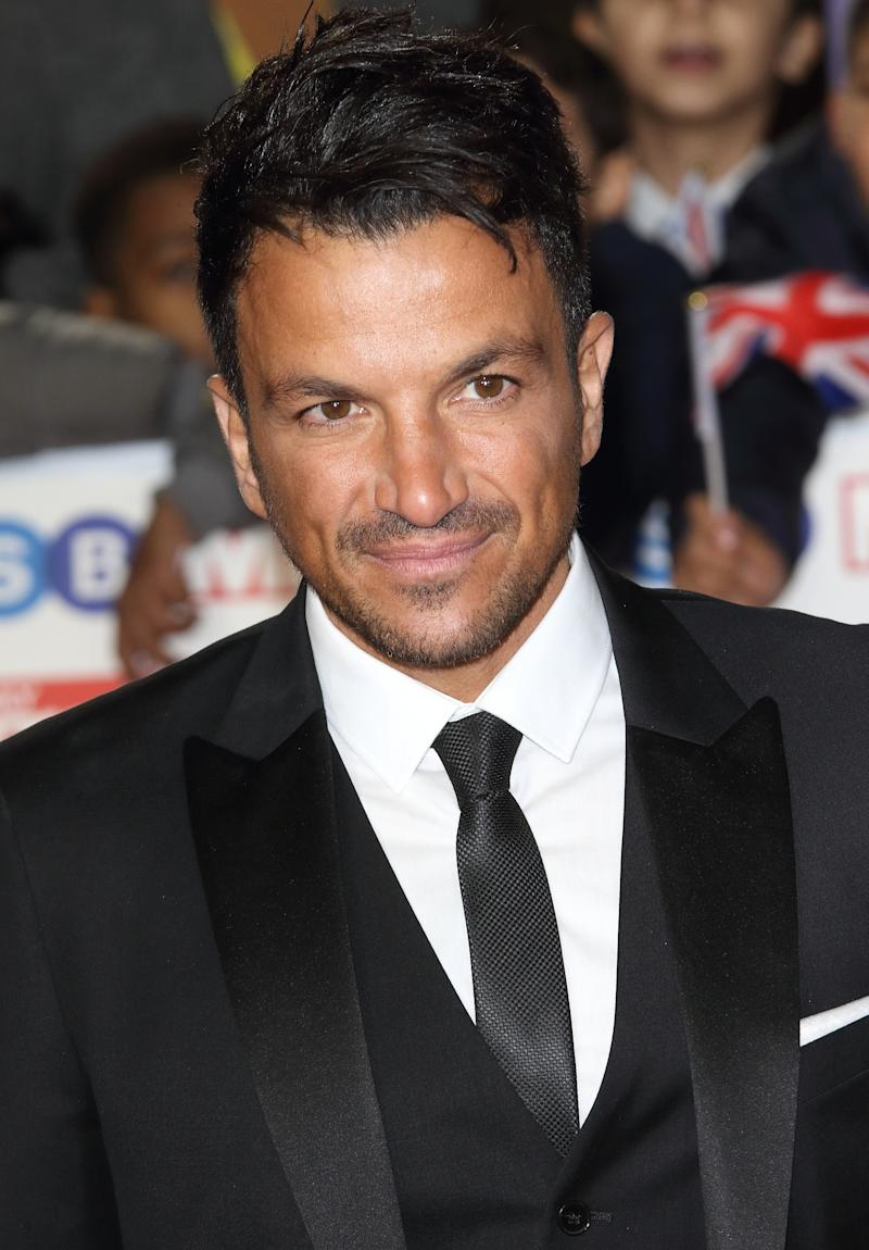 Peter Andre on the red carpet at The Daily Mirror Pride of Britain Awards, in partnership with TSB, at the Grosvenor House Hotel, Park Lane. (Photo by Keith Mayhew / SOPA Images/Sipa USA)