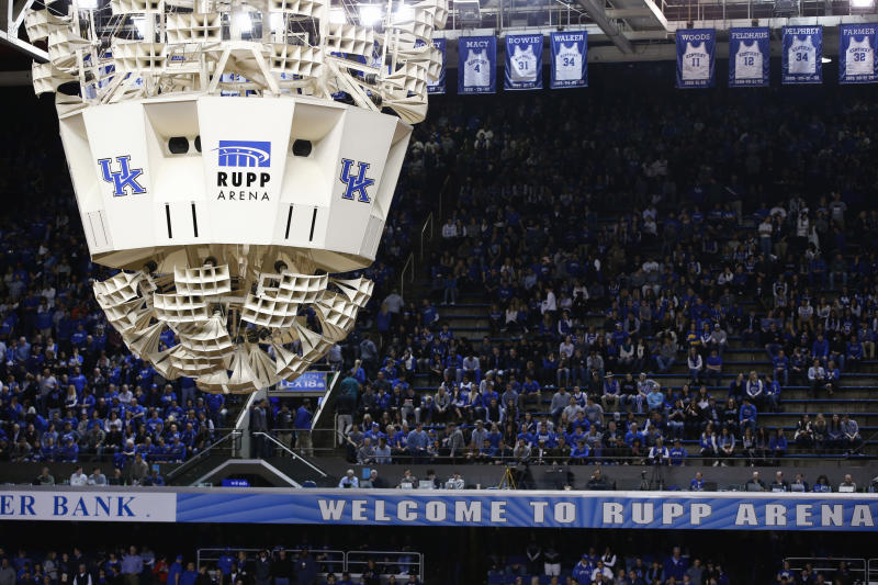 Rupp Arena opened its doors in 1976. It's named after Adolph Rupp, who won four national championships at the University of Kentucky.