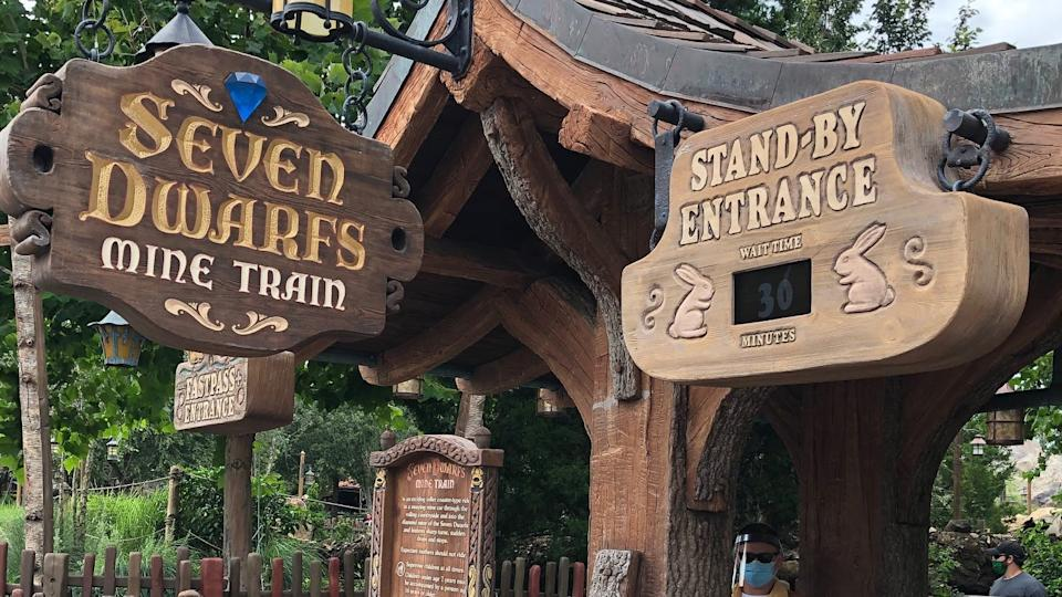 There was only a 30-minute wait for TheSeven Dwarf Mine Train.