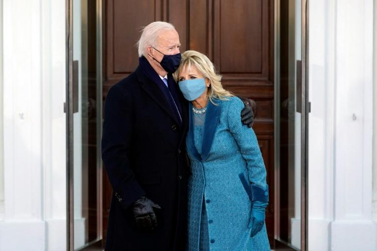 US President Joe Biden and First Lady Jill Biden are seen on Inauguration Day
