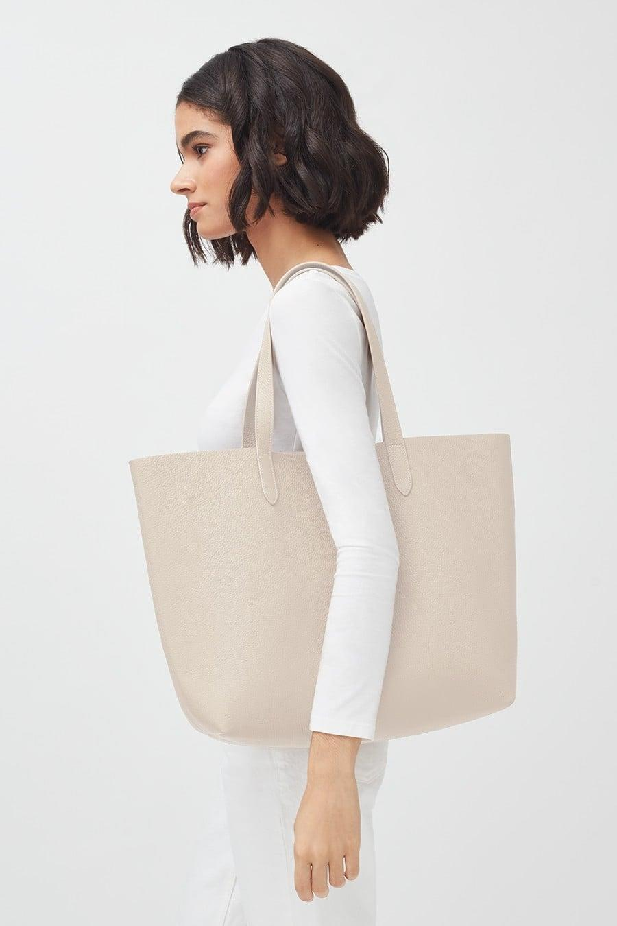 <p>This <span>Cuyana Classic Structured Leather Tote</span> ($195) is a perfect everyday bag.</p>