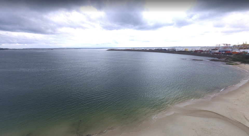Yarra Bay at Le Perouse, in Sydney, is pictured. A baby in a plastic bag was reportedly seen floating in the water.