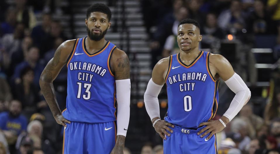 Russell Westbrook and Paul George are going to remain teammates for a while.