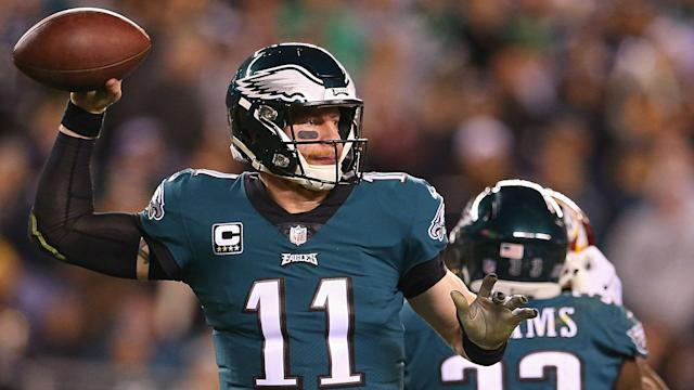 Eagles quarterback Carson Wentz was downgraded to out on the injury report and it is not known if he will play again this season.