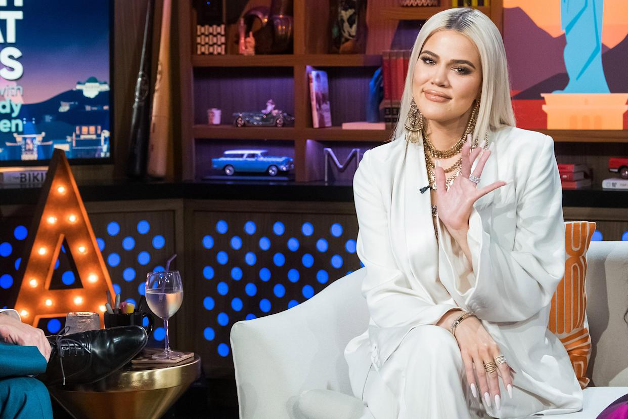 Khloé Kardashian's latest commercial for Good American was deemed too sexy for TV. (Photo: Getty Images)