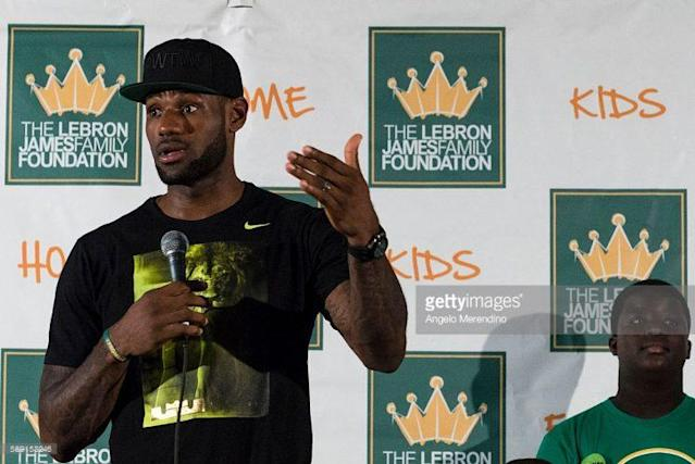 LeBron James extended resources for kids supported by his foundation through college. (Getty Images)