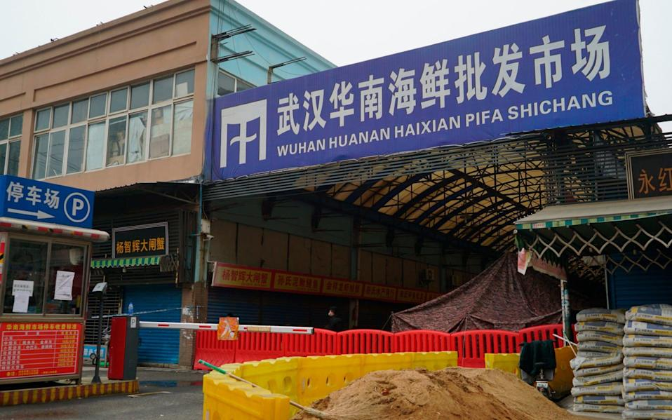 The majority of the WHO team have landed in Wuhan, home to the Huanan Seafood Market, which is believed to be ground zero of the Covid-19 pandemic - Dake Kang /AP