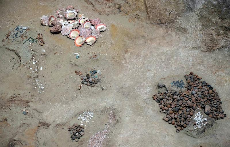 The tomb had been broken into multiple times, possibly in search of treasure (AFP Photo/STR)