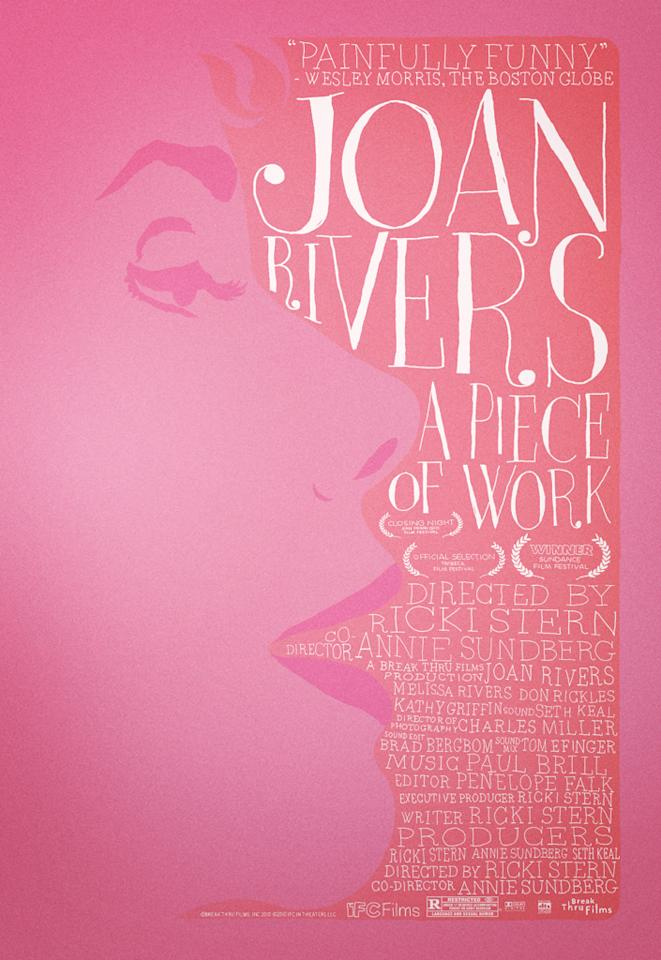 "The Best:  <a href=""http://movies.yahoo.com/movie/1810129291/info"">JOAN RIVERS: A PIECE OF WORK</a>    From the pink on pink to the handwritten type, all of the elements on this design come together quite nicely."