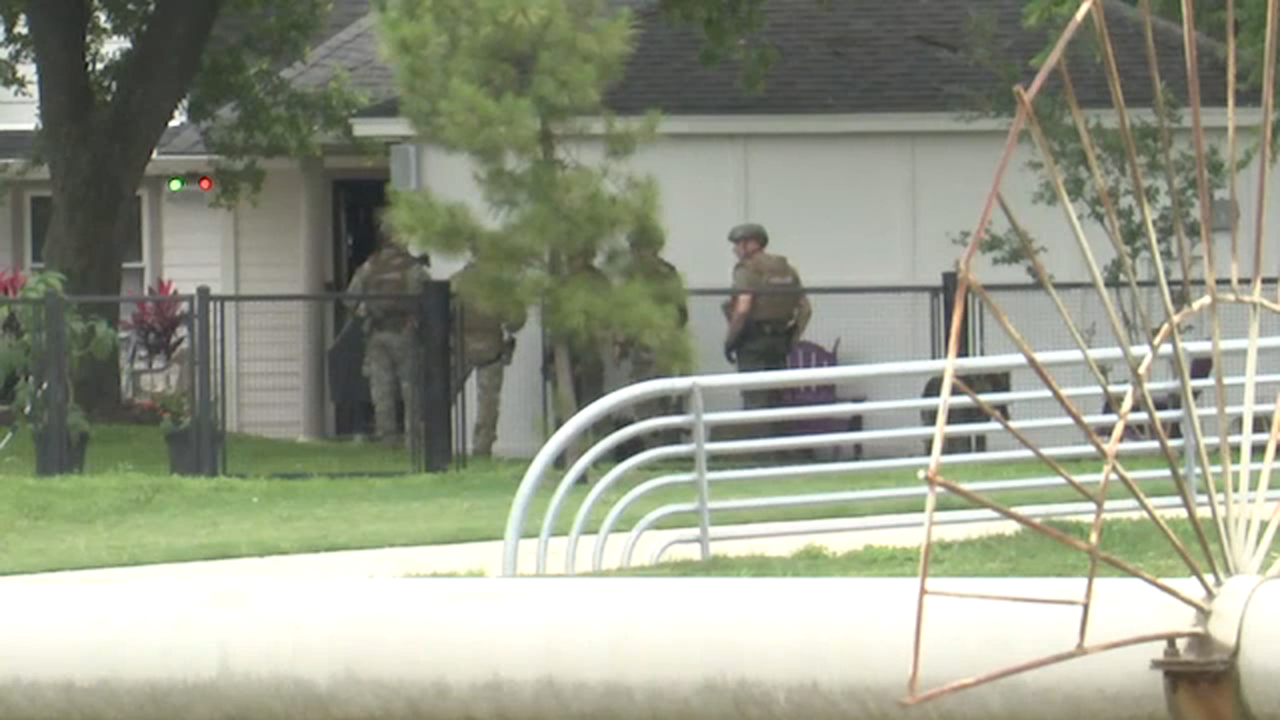Authorities say the homeowner called 911 around noon when she received an alert that her alarm was going off.