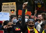 Thousands defied coronavirus rules to rally in cities across Australia on Tuesday to protest the country's national day