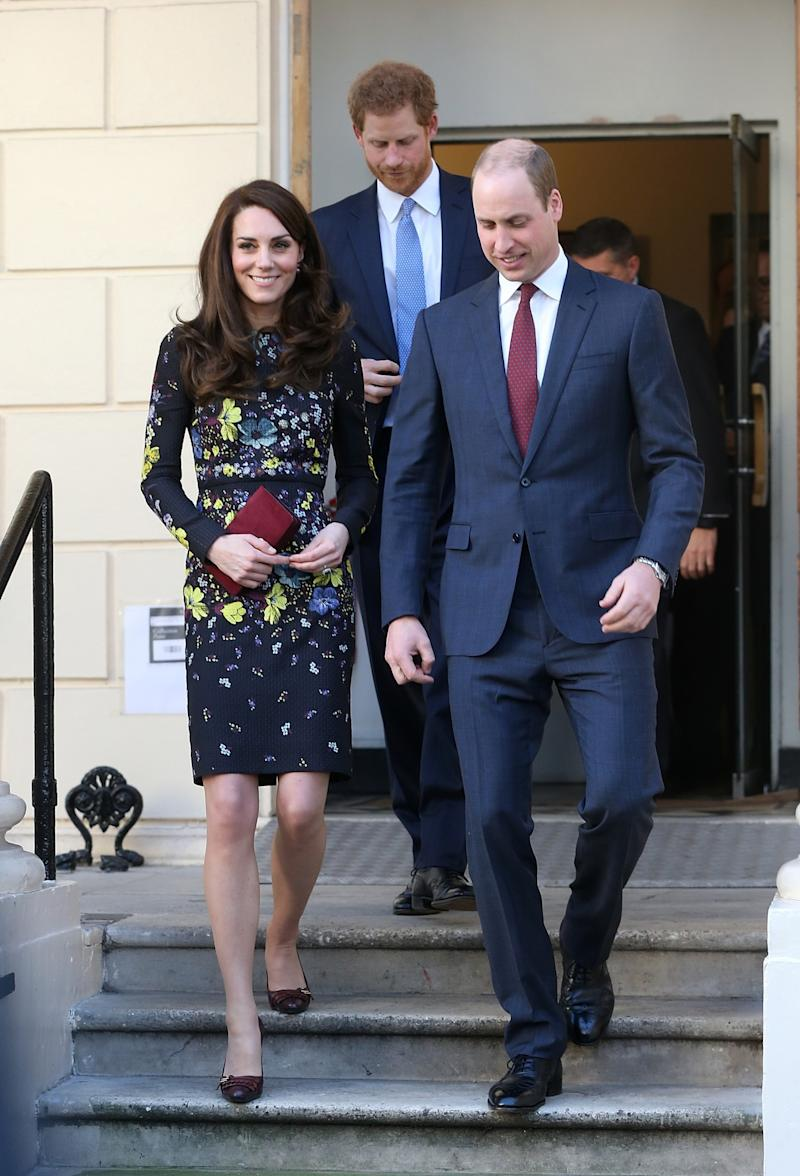Catherine, Duchess of Cambridge, Prince William, Duke of Cambridge and Prince Harry attended a briefing on January 17, 2017 in London, England. (Photo: Getty Images)