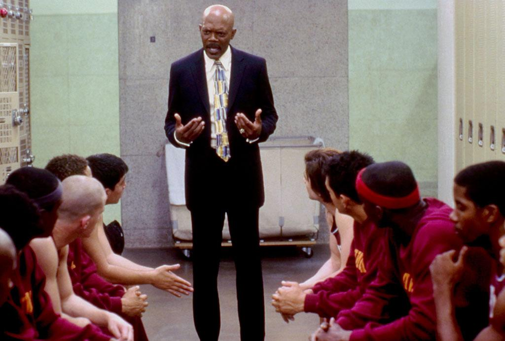 "<b>Coach:</b><br>Coach Carter (Samuel Jackson) in ""Coach Carter"" (2005) -- There's a lot of quality coach's to choose from out there, but only one of them uses the Jedi Mind Trick to motivate his players."