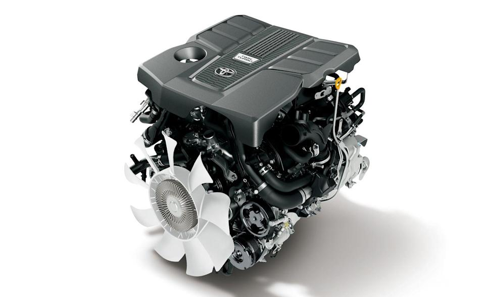 """<p>Replacing the old model's 381-hp 5.7-liter V-8 is a new twin-turbocharged 3.4-liter V-6 engine that produces 409 horsepower and 479 pound-feet of torque. This engine is expected to power the new Tundra pickup truck, which could also offer a <a href=""""https://www.caranddriver.com/news/a36717636/2022-toyota-tundra-powertrain-teased/"""" rel=""""nofollow noopener"""" target=""""_blank"""" data-ylk=""""slk:hybrid drivetrain"""" class=""""link rapid-noclick-resp"""">hybrid drivetrain</a> using this engine. The Land Cruiser is also available with a twin-turbocharged 3.3-liter V-6 diesel engine on the GR Sport and ZX models that generates 305 horsepower and 516 pound-feet of torque, but this powertrain is unlikely to make its way stateside in the new Tundra or the Lexus LX. Both engines are paired with a 10-speed automatic transmission and four-wheel drive.</p>"""