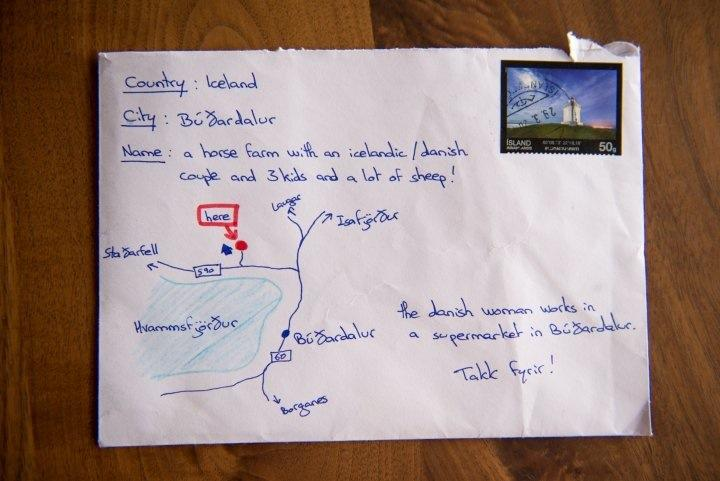 This tourist drew a map on a postcard in lieu of an address and it actually got delivered